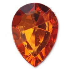 13mm x 18mm ORANGE Teardrop Shape Acrylic Embellishment Gems